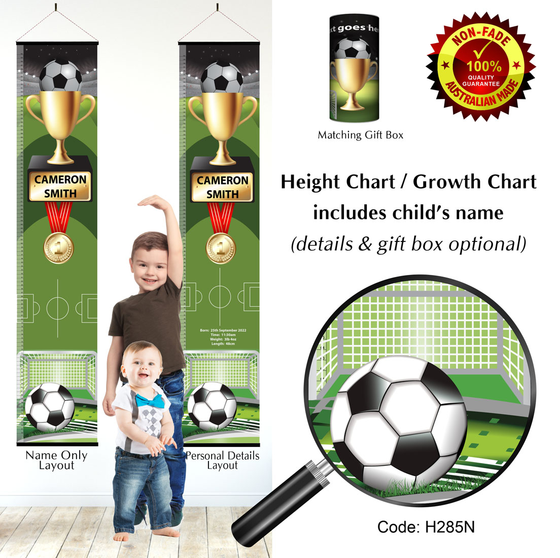 Boys Height Growth Charts for Soccer Football Player