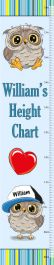Height Chart for Baby Boy - Owl Theme