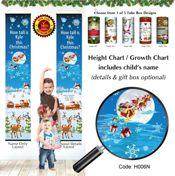 Height Chart - How Tall is child this Christmas