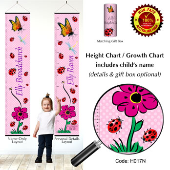 Height Growth Chart - Butterfly Ladybirds
