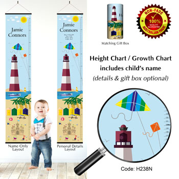 Height Charts - By The Sea Lighthouse