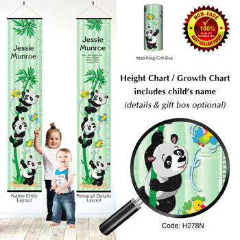 Zoo Panda Bears Theme, Height Chart
