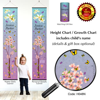 Height Growth Chart - Butterfly Blossom