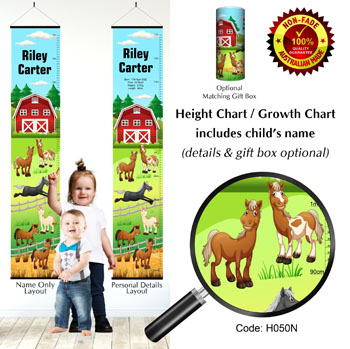 Height Growth Chart with Horses