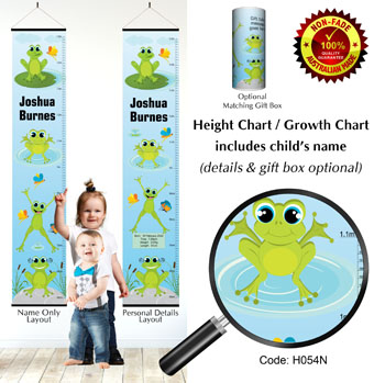 Height Growth Charts with Jumping Frogs