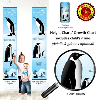 Growth Height Charts Penguin Theme