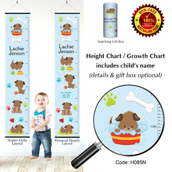 Height Growth Chart - Puppy Dogs Adventure
