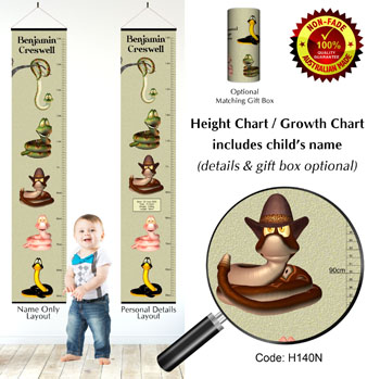Height Chart 3D Snakes Theme