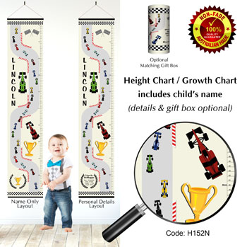 F1 Grand Prix Racing Height Growth Charts