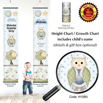 Height Chart - Counting Sheep & Night Owl