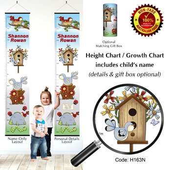 Height Charts - Birds in Nest Home