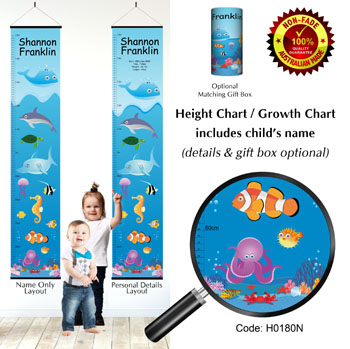 Height Growth Chart Underwater Tropical Fish