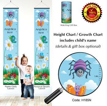 Height Chart - Ladybirds & Garden Insects