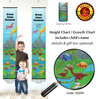 Height Growth Chart and Dinosaur Theme