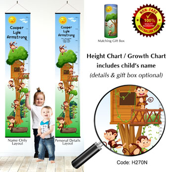 Family Height Growth Chart in Monkey Tree House