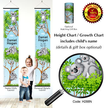 Koalas in Gum Trees Height Growth Chart