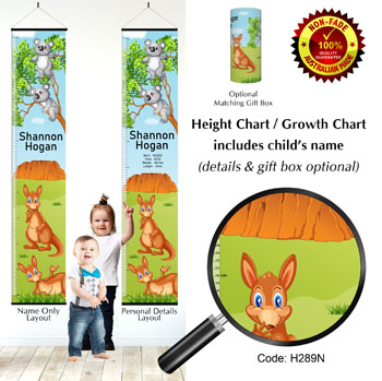 Koala & Kangaroo Kids Height Chart