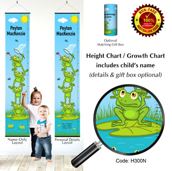 Height Growth Charts Stacked Frogs