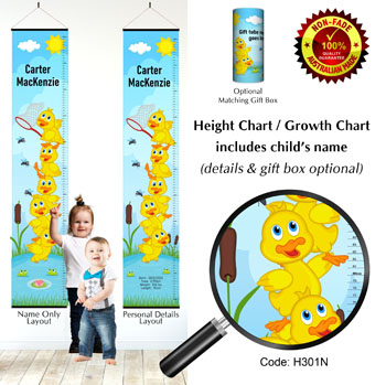 Height Growth Charts with Stacked Ducks