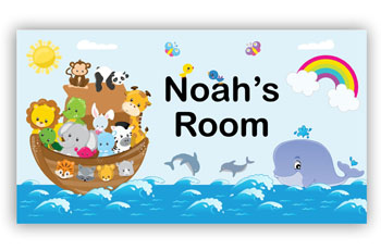 Room Door Sign Noah's Ark Boat