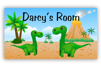 Room Door Sign Jurassic Dinosaur Theme
