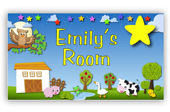 Kids Bedroom Door Sign - Twinkle Star