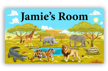 Door Name Sign - Safari Wild Theme