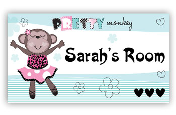 Room Door Sign Dance Monkey or Ballet