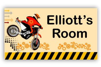 Room Door Sign Dirt Bike